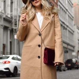 Classic Camel Coat  - Size Small